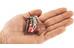 Robens Fire Midge - Réchaud à gaz - Titanium gris/rouge